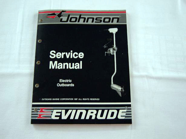Service Manual Johnson/Evinrude electric outboard 1987