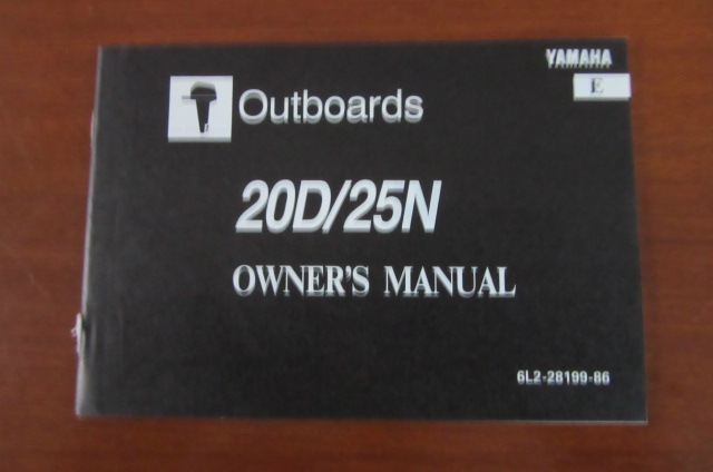 Owner's Manual Yamaha 20D / 25N