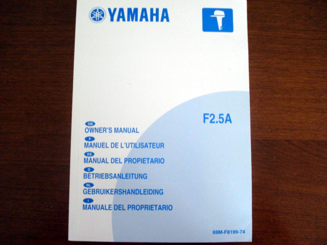 Owner's manual F2,5A