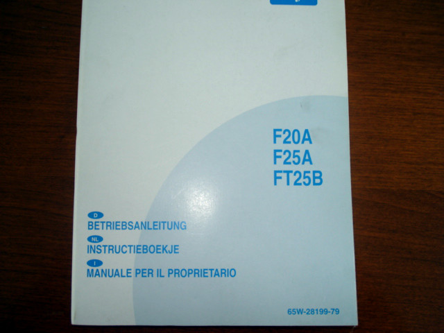 Instructieboekje F20A, F25A, FT25B